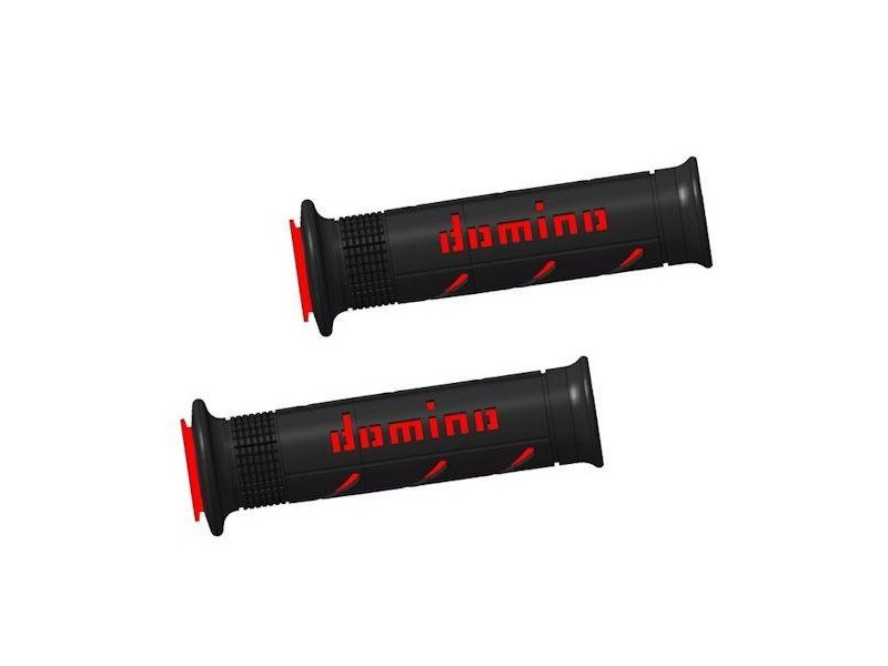 DOMINO - GRIP DUAL COMP SOFT BLACK/RED